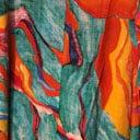 Orange og turkismønstret